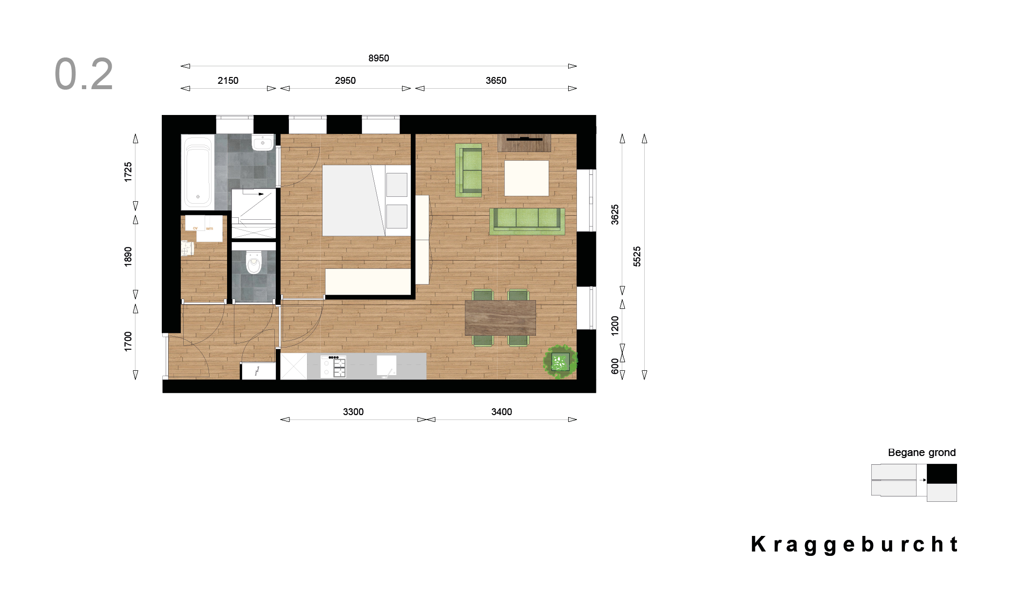 Kraggenburcht – Appartement type 2