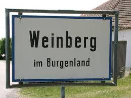 Ortstafel Weinberg im Burgenland
