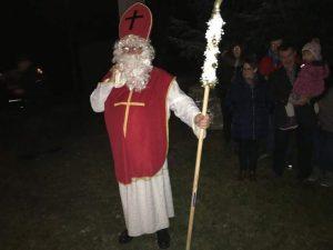 Der heilige Nikolaus zu Besuch in Schriebersdorf
