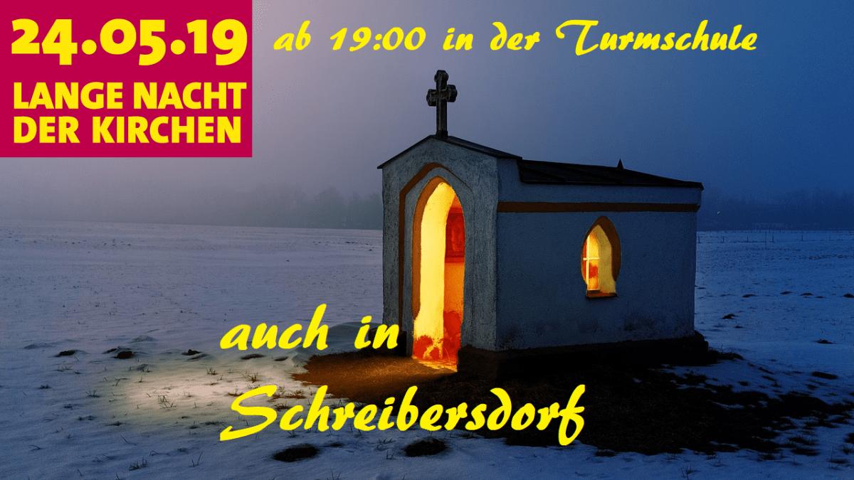 """Einladung zur """"Langen Nacht der Kirchen""""."""