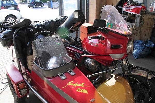 Foto Motorradgespann Moto Guzzi