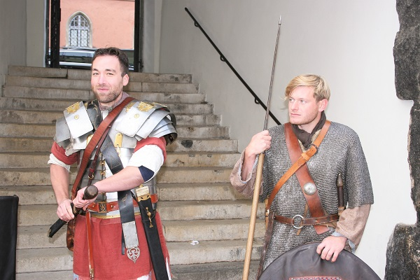 Zwei römische Soldaten in Regensburg