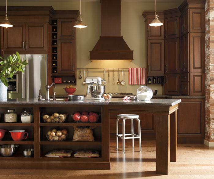 Dark Cherry Kitchen Cabinets Schrock Cabinetry