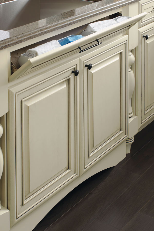 Sink Base With Tilt Out On 5 Piece Drawer Front Schrock
