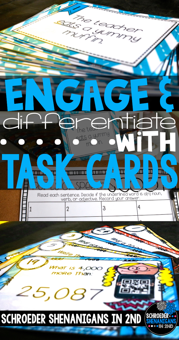 Task card ideas, differentiation with task cards, engaging your learners with task cards