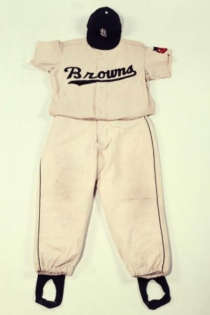 Jim Delsing's St. Louis Browns uniform from 1952.