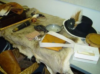 Artifacts for SCHS Lewis and Clark Night, July 2014, by Mark Breckenridge.