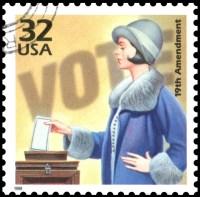 19th amendment commemorative postage stamp USA