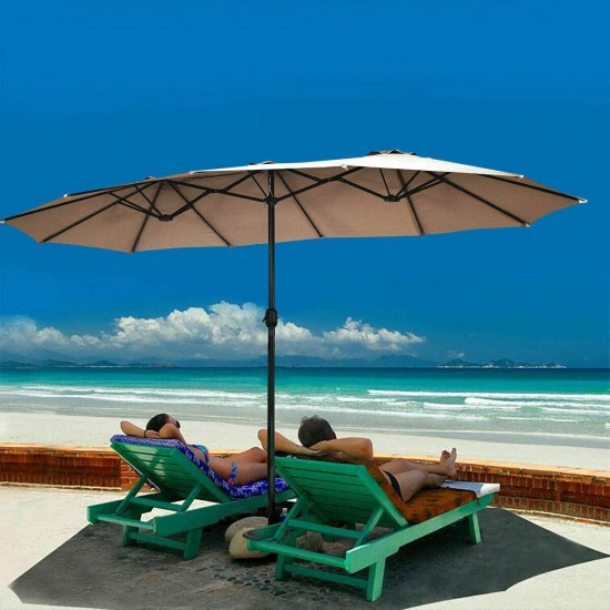 https www schsez com tangkula 15 ft patio umbrella double sided outdoor market table umbrella with crank coffee