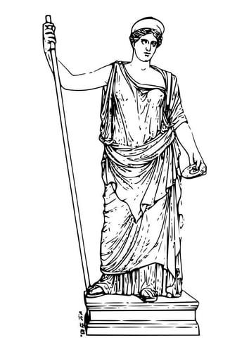 Malvorlage  Hera