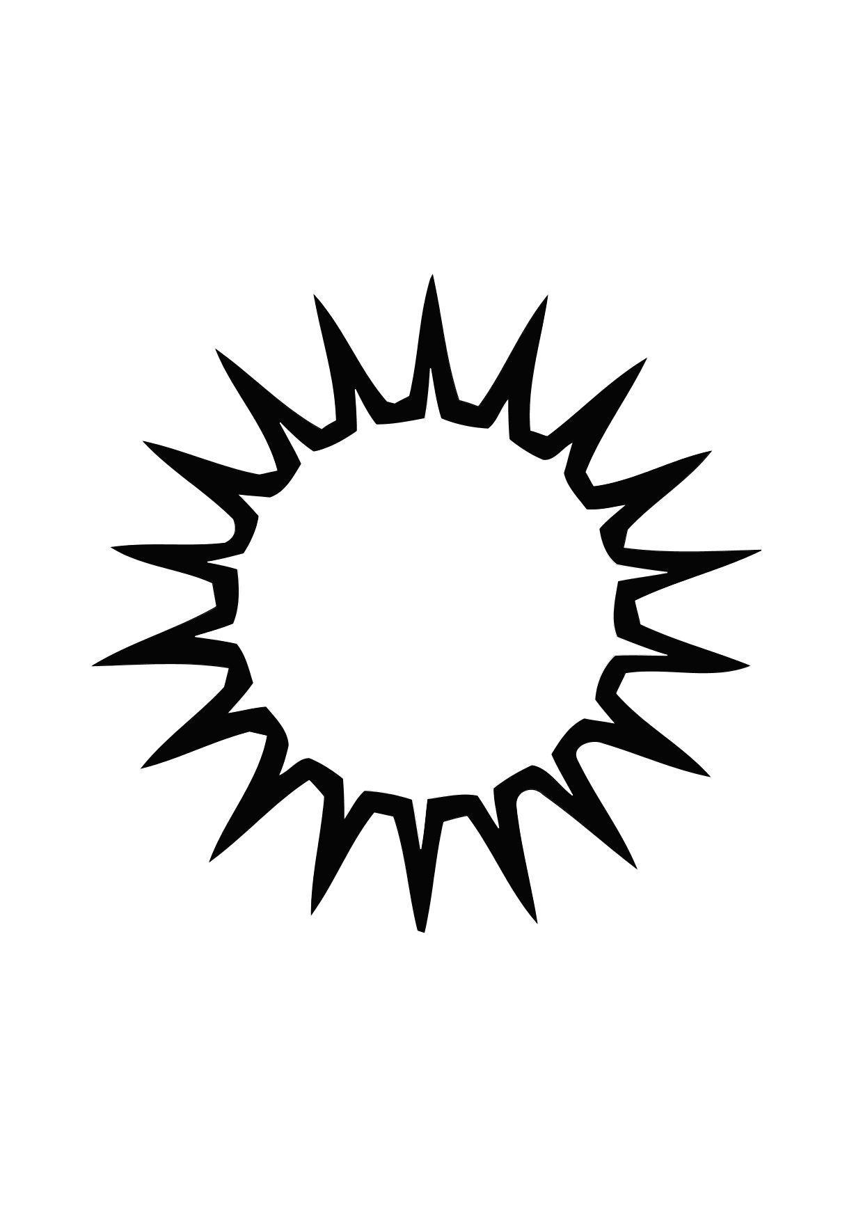 Malvorlage 01a Sonne