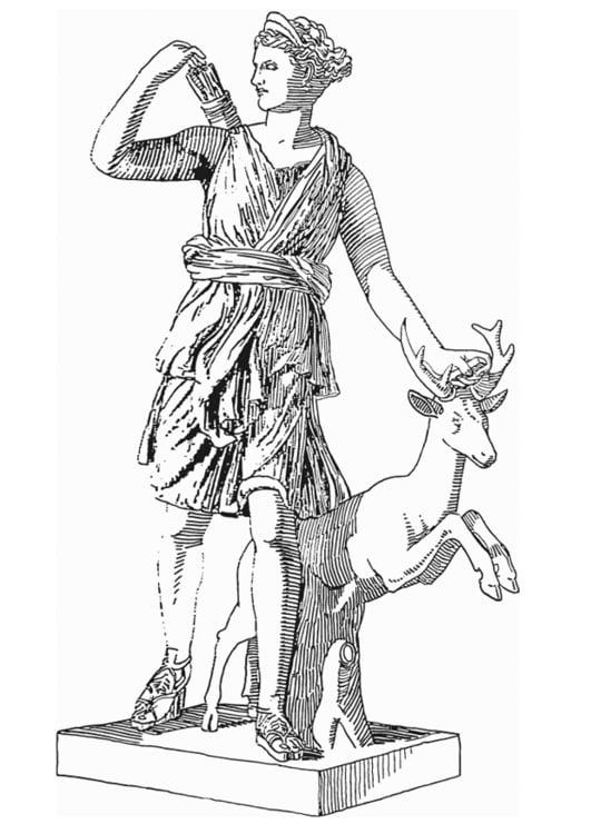 Malvorlage Artemis Gttin Aus Der Griechischen Mythologie