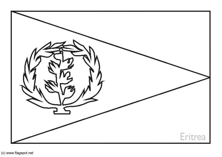 Malvorlage Eritrea Ausmalbild 6190