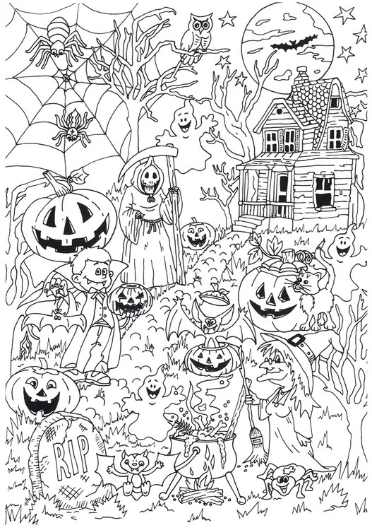 Kostenlose ausmalbilder in einer vielzahl von themenbereichen, zum ausdrucken und anmalen. 204 Malvorlagen Von Halloween - Kostenlose Ausmalbilder