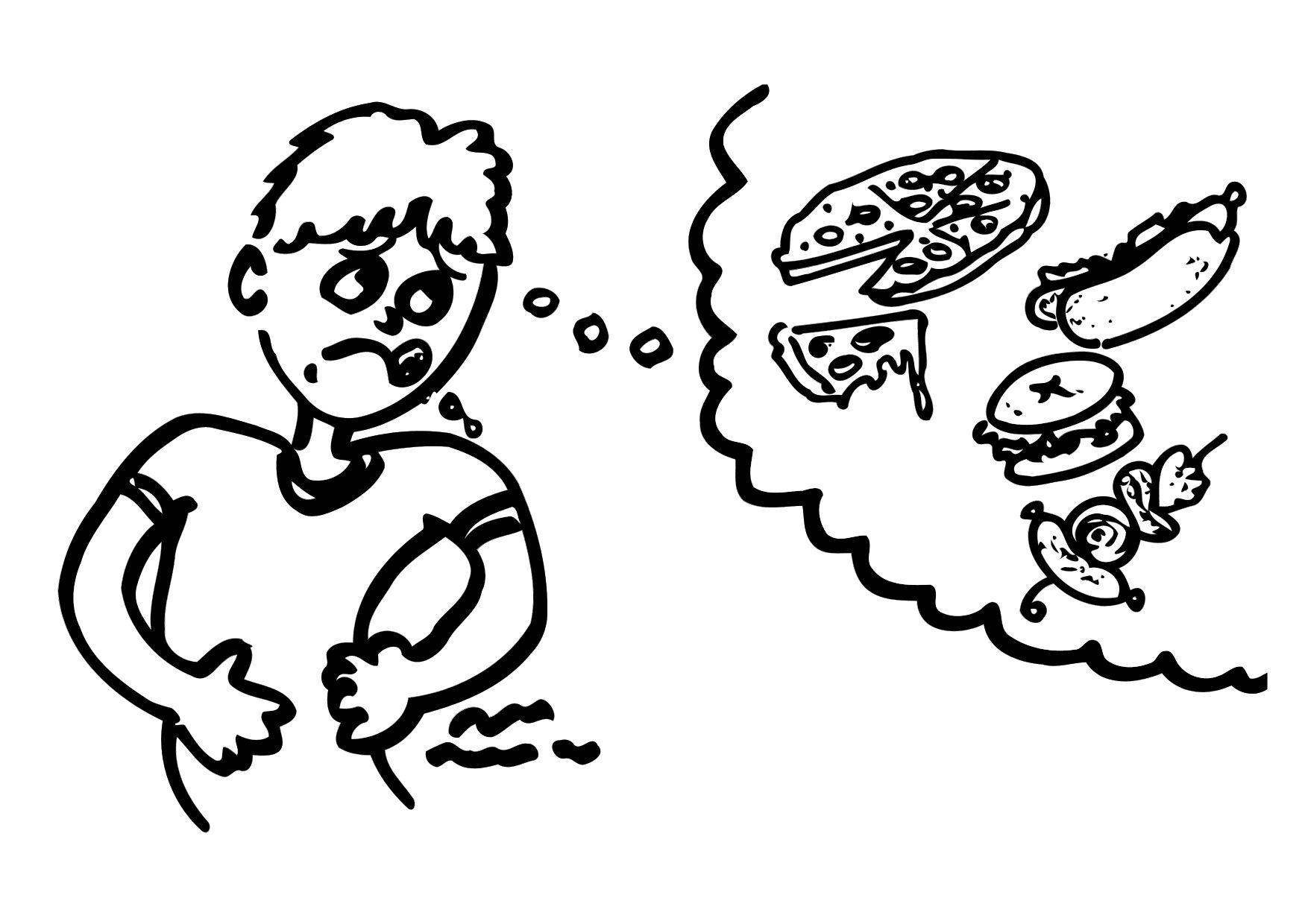 Malvorlage Hunger