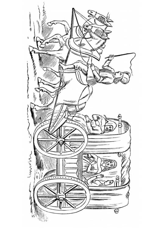 Malvorlage Kutsche 15 Jahrhundert Ausmalbild 18772