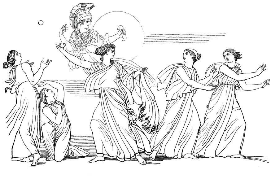 Malvorlage Odysseus Nausikaa Ausmalbild 17488