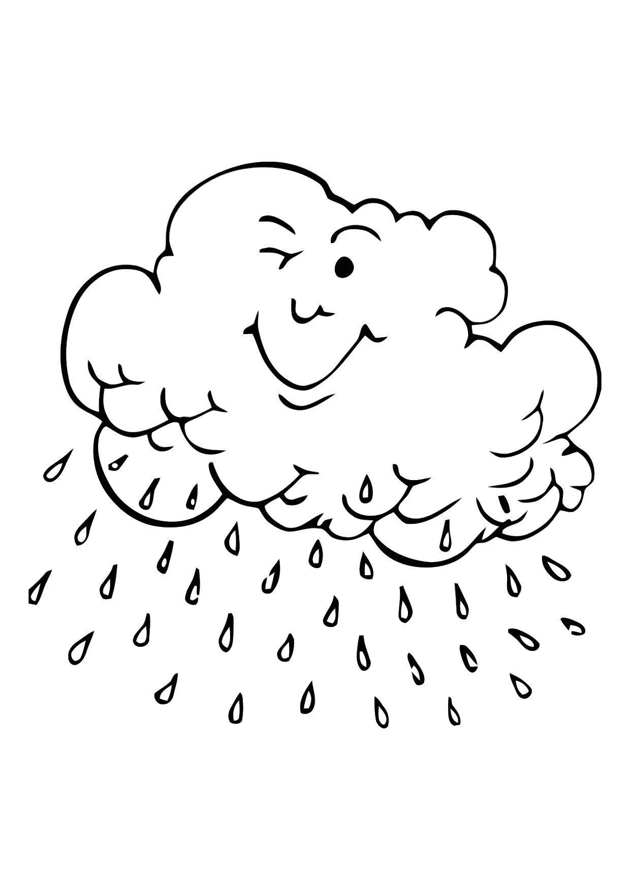 Malvorlage Regenwolke