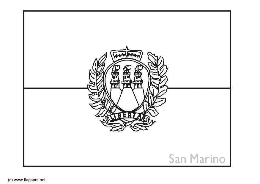 Malvorlage San Marino Ausmalbild 6382