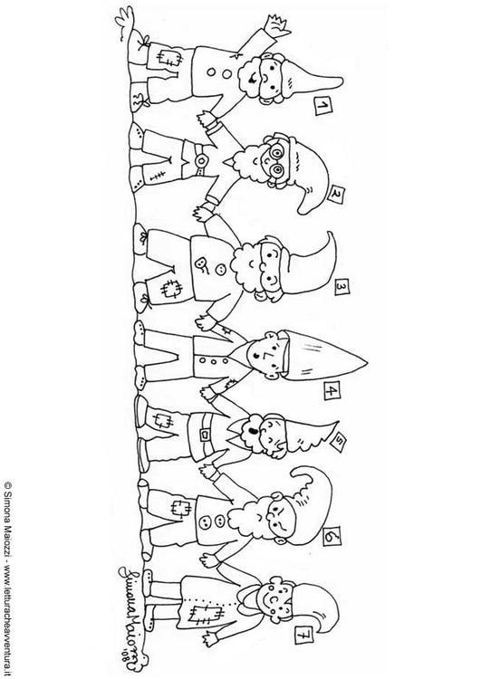 Malvorlage Zwerge Ausmalbild 12409