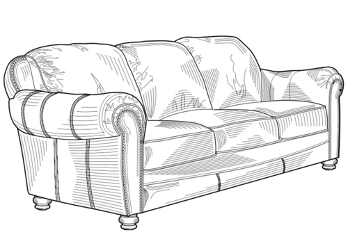 Malvorlage  Sofa