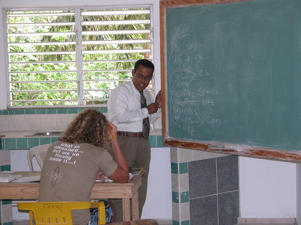 Marcel bei Gustavo im Spanisch Unterricht (2003)