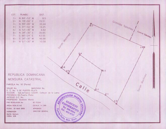 Blueprint of the school  April 2005