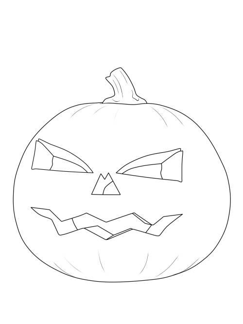 Kostenlose Malvorlage Halloween Krbis Laterne Ausmalen