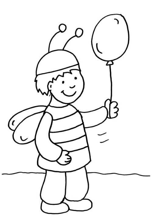 Kostenlose Malvorlage Karneval Fasching Fastnacht Junge