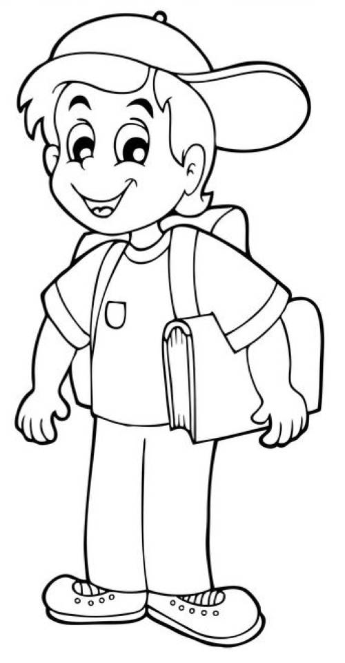 Kostenlose Malvorlage Schule Erstklssler Auf Dem Weg Zur