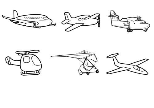 Kostenlose Malvorlage Transportmittel Flugzeuge Zum
