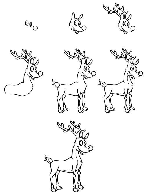 Kostenlose Malvorlage Weihnachten Wie Malt Man Ein