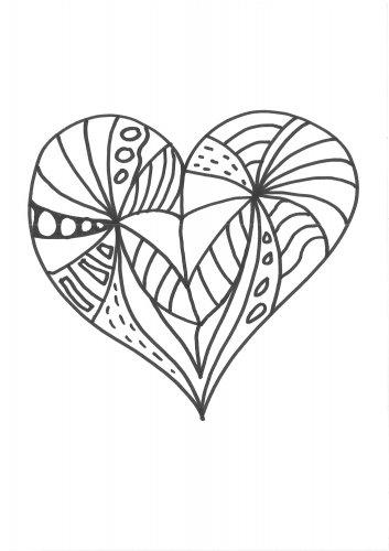 Kostenlose Malvorlage Herzen Malvorlage Herz Zum Ausmalen
