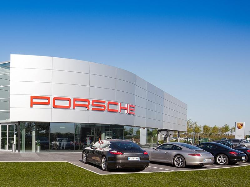 photographie publicitaire - centre automobile porsche