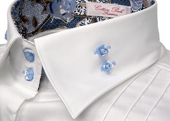 photographie publicitaire à rennes, photo col de chemise blanc