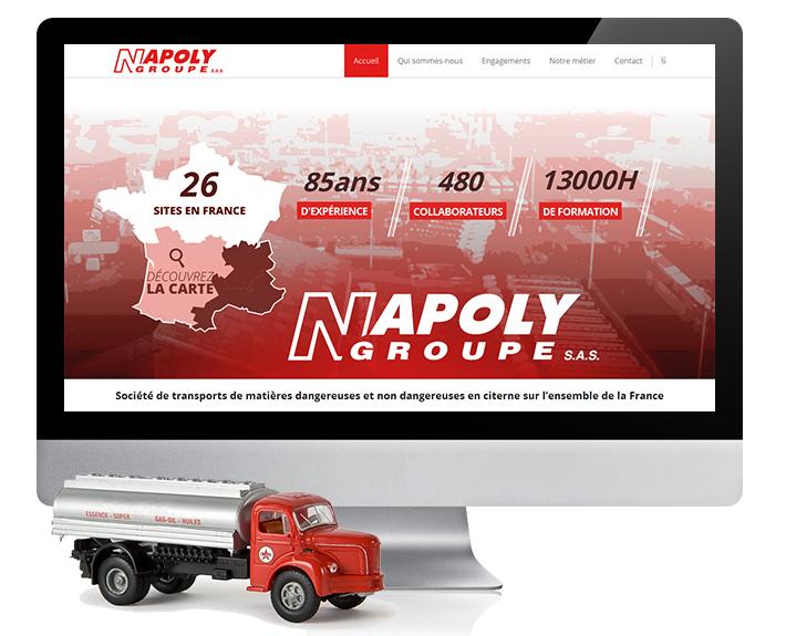 création de site web à rennes, site corporation Napoly Groupe