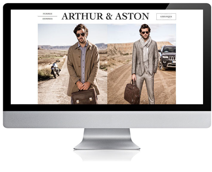 site internet e-commerce Arthur-Aston - boutique de vente en ligne