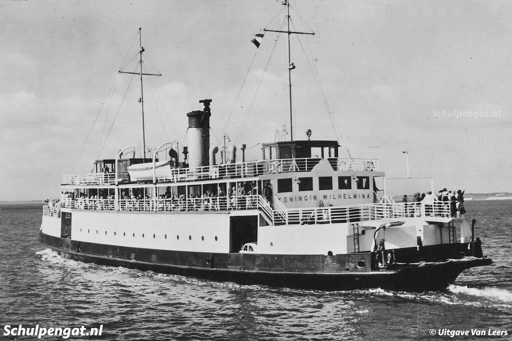 De veerboot Koningin Wilhelmina werd vanwege de ouderdom weleens 'Opoe' genoemd