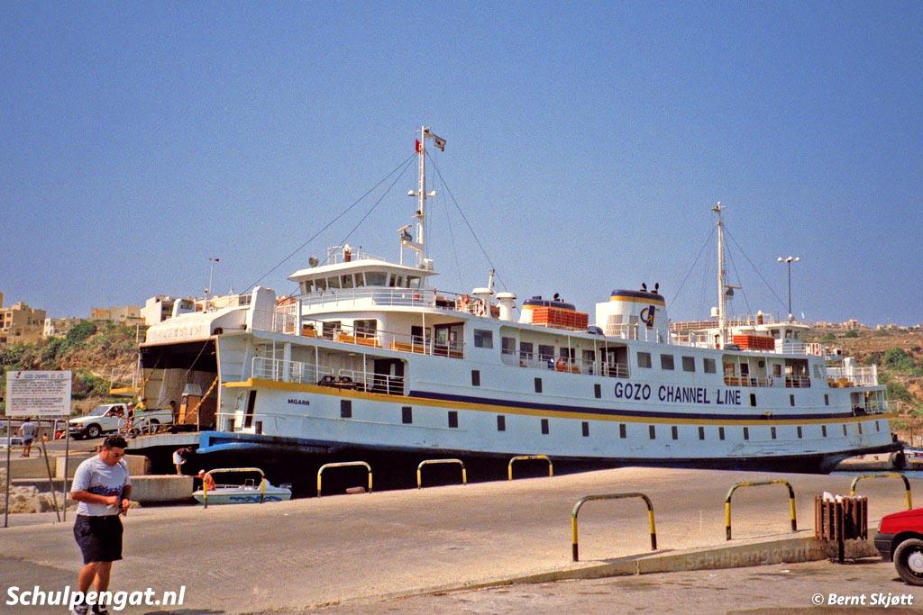 De Marsdiep werd op Malta Mgarr genaamd, naar de veerhaven van Mgarr op het eiland Gozo. Op de foto zien we de ferry Mgarr in de haven van Mgarr