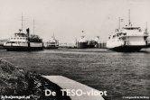De TESO-vloot in 1964, of althans, een gedeelte van de vloot. Ster van de show is de koplader Marsdiep, rechts in beeld.