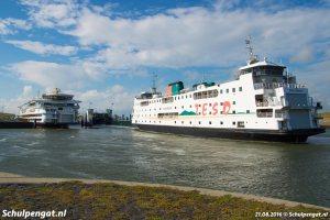 Het TESO-vlaggenschip en de reserveboot