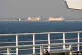 Drie TESO-veerboten gevangen in één beeld. Van 2005 tot 2008 was het vaak mogelijk.