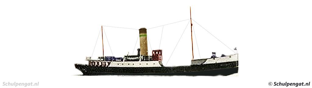 Zijaanzicht TESO-zijlader Marsdiep (1926)