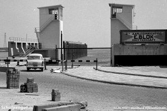 De bouw van de Vlissingse aanleginrichting in 1958, waarop het Texelse systeem gebaseerd is.