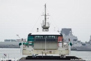 Vooraanzicht veerboot Schulpengat