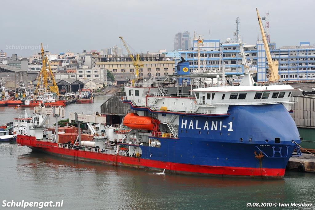 De voormalige Molengat in Sri Lanka, in de havenplaats Colombo. Sri Lanka is een eiland ten zuiden van India bij de Golf van Bengalen