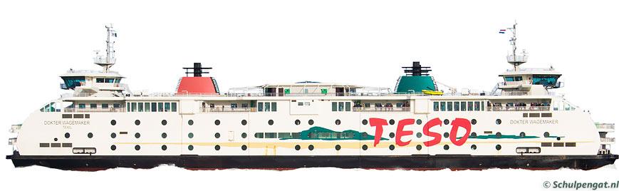 Zijaanzicht TESO-veerboot Dokter Wagemaker (2005)