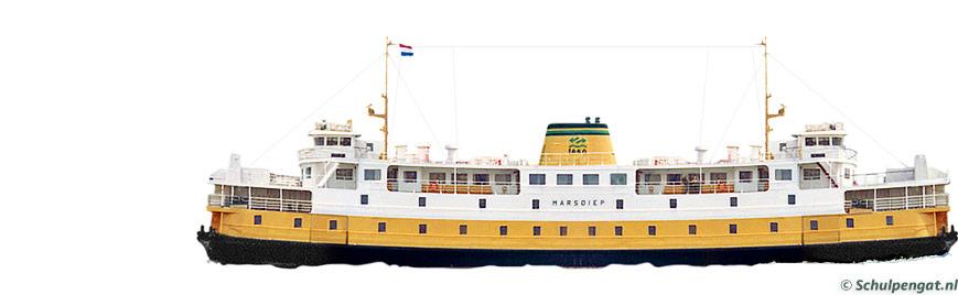 Zijaanzicht TESO-veerboot Marsdiep (1964)