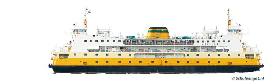 Zijaanzicht TESO-veerboot Molengat (1980)