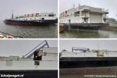 De sloop van de dubbeldeksveerboot Schulpengat op de laatste dag van januari 2019.